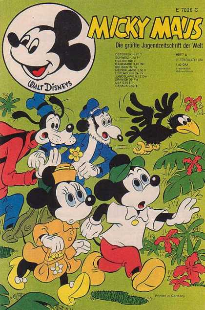 Micky Maus 946 - Goofy - Minnie Mouse - Disney - Crow - Printed In Germany