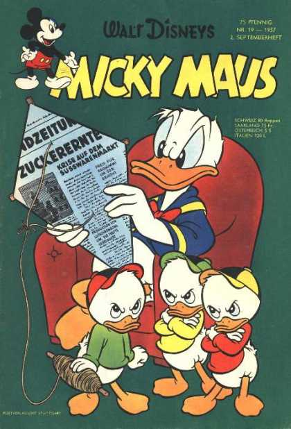 Micky Maus 97 - Kite - Newspaper - Donald Duck - Mickey Mouse - Frustration