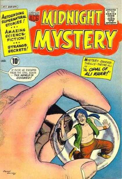 Midnight Mystery 2 - Approved By The Comics Code Authority - Astounding Supernatural Stories - Opal Of Khar - Amazing Science Fiction - Strange Secrets
