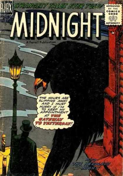 Midnight 2 - Ajax - Approved By The Comic Code - Strangest Tales Ever Told - The Gateway To Yesterday - The Hours Are Slipping Away