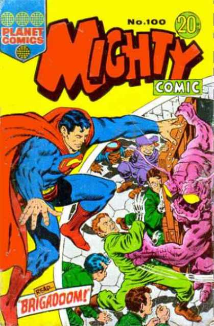 Mighty Comic 100 - Superman - Planet - Read - Brigadoon - Defending