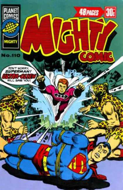 Mighty Comic 110 - Mighty - Superman - Ropes - Cape - Comics