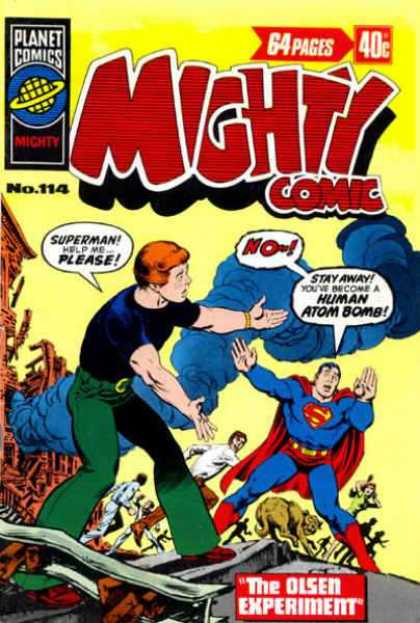 Mighty Comic 114 - Superman - The Olsen Experiment - Jimmy - Human Atom Bomb - Smoke