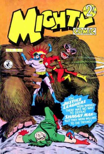 Mighty Comic 56 - Batman - Bigfoot - Fight - Shaggy Man - Justice Leaguers