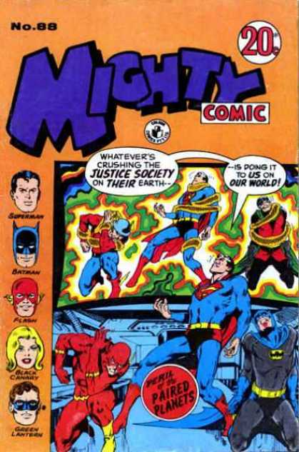 Mighty Comic 88 - Superman - Batman - Flash - Green Lantern - Paired Planets