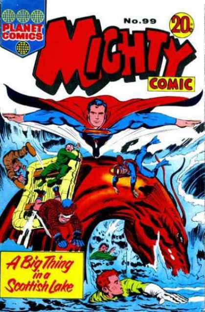 Mighty Comic 99 - Planet Comics - Comic - Superman - Boat - Monster