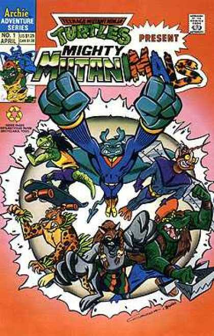 Mighty Mutanimals 1 - Alligator - Skateboard - Tiger - Flying - Dinasour