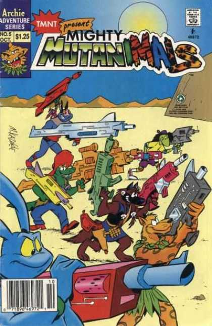 Mighty Mutanimals 5 - Desert - Rabitt - Guns - Wolf - Animals