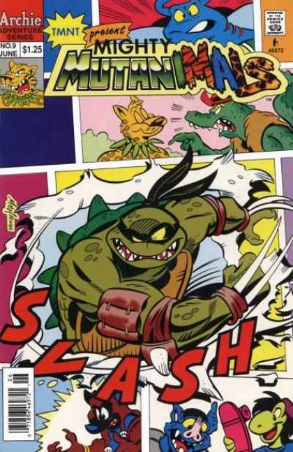 Mighty Mutanimals 9 - Comics Code Authority - June - Slash - Turtle - Skateboard