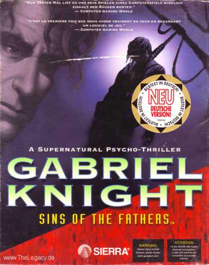 Misc. Games - Gabriel Knight: Sins of the Fathers