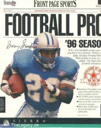 Misc. Games - Front Page Sports: Football Pro 96