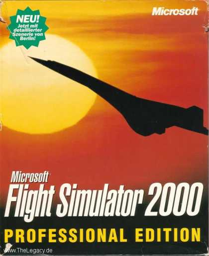 Misc. Games - Microsoft Flight Simulator 2000 Professional Edition