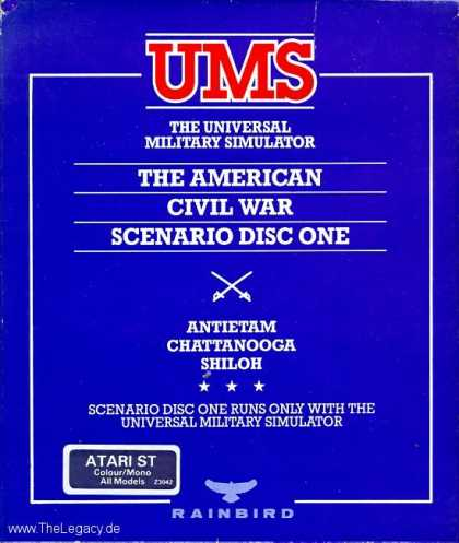Misc. Games - UMS I: The American Civil War -Scenario Disc One-