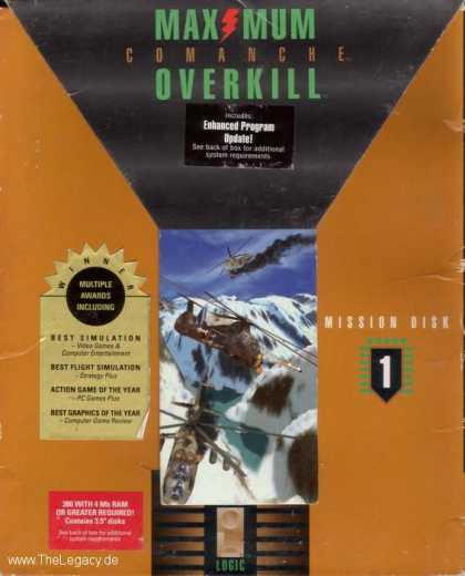 Misc. Games - Comanche: Maximum Overkill - Mission Disk 1