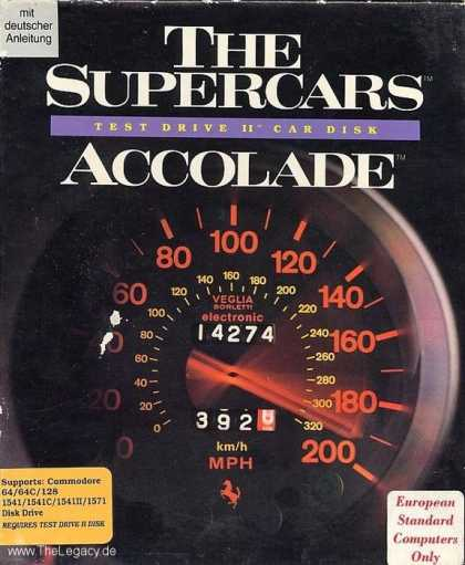 Misc. Games - Supercars, The: Test Drive II Car Disk
