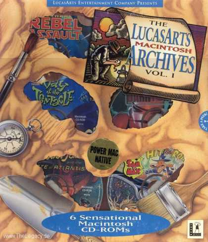 Misc. Games - LucasArts Macintosh Archives, The - Vol. I