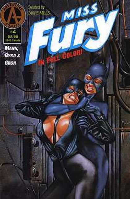 Miss Fury 4 - Catwoman - Action - Blue Suits - Ears