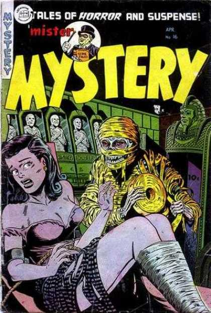 Mister Mystery 16 - Tales Of Horror And Suspense - Mummies - Bound Woman - Tomb - Top Hat
