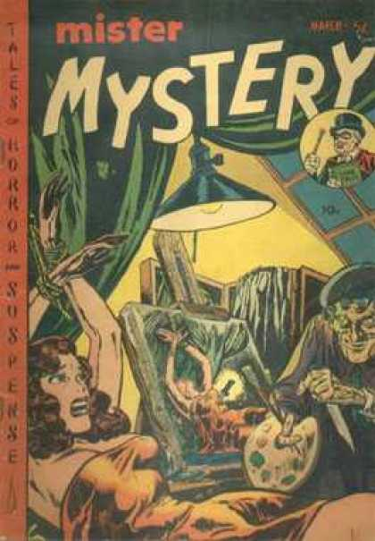 Mister Mystery 4 - Mystery - Silver Age - Horror - Bondage - Painting