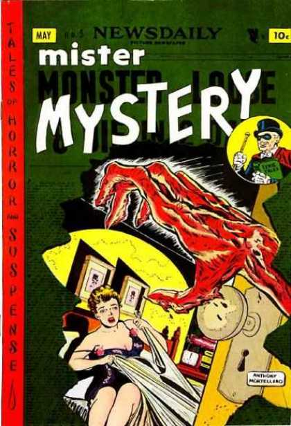Mister Mystery 5 - Tophat - Sheets - Bed - Monster - Hand