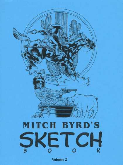 Mitch Byrd's Sketchbook 2 - Volume 2 - Blue Background - Artwork - Bath - Pig