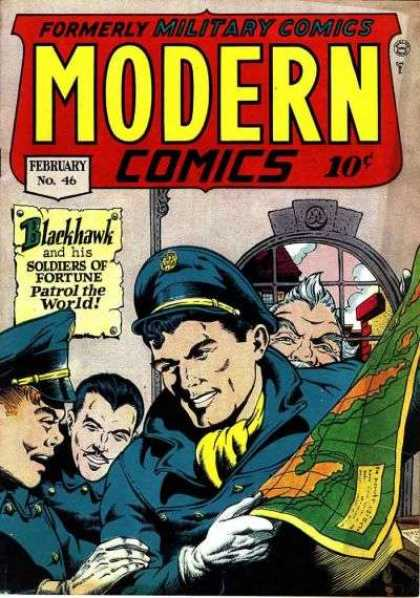 Modern Comics 46 - Blackhawk - Soldiers Of Fortune - February - Patrol The World - Sailingthe Seas