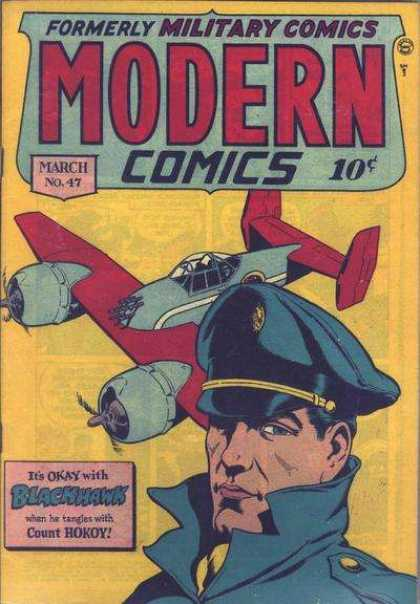 Modern Comics 47 - Its Okay With Blackhalk - March No 47 - Plane - Cop - Count Hokoy