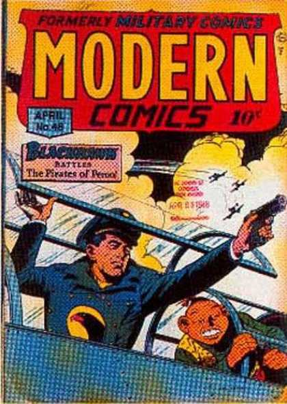 Modern Comics 48 - Blackhawk - Gun - Military - Flying - Clouds