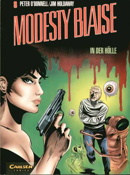 Modesty Blaise 8 - Peter Odonnel - Jim Holdaway - Carlsen Comics - Eye - Woman