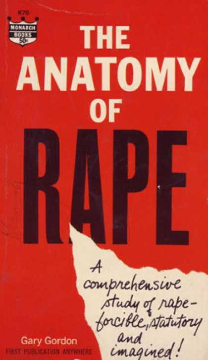Monarch Books - The Anatomy of Rape - Gary Gordon