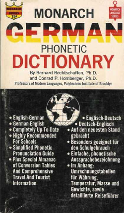 Monarch Books - German Phonetic Dictionary: English-german & German-english