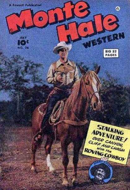 Monte Hale Western 38 - 52 Pages - Man - Horse - Western - July