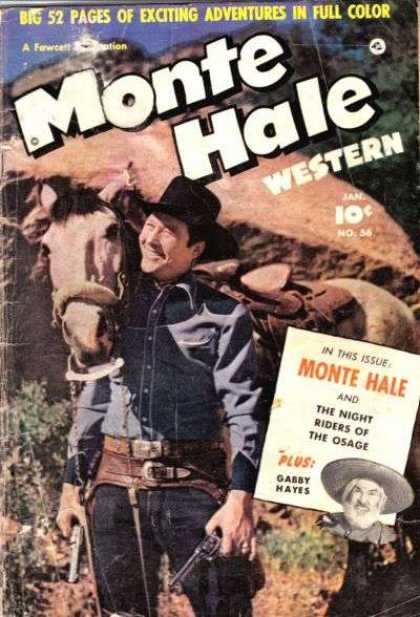 Monte Hale Western 56 - Horse - Cowboy - Gabby Hayes - Night Riders - Osage