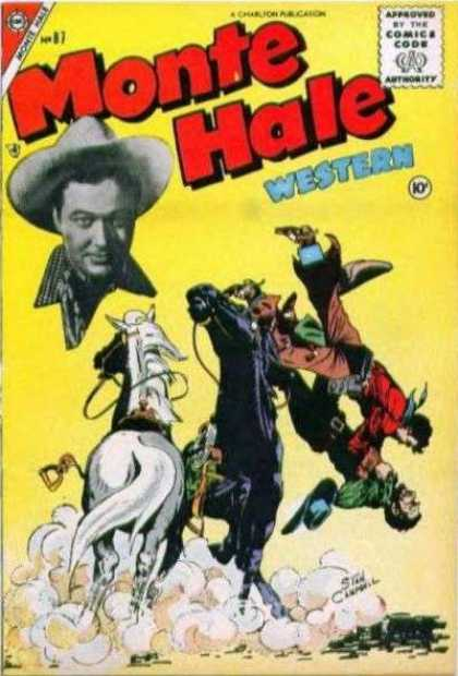 Monte Hale Western 87 - Approved By The Comics Code - Cowboy - Horse - Dust - Hat