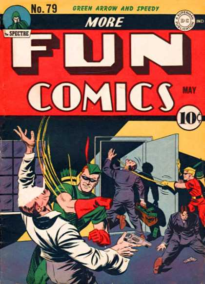 More Fun Comics 79 - Bungled Bank Robbers - Robin Hoods Men - Caught In The Act - Defeated - Thwarted