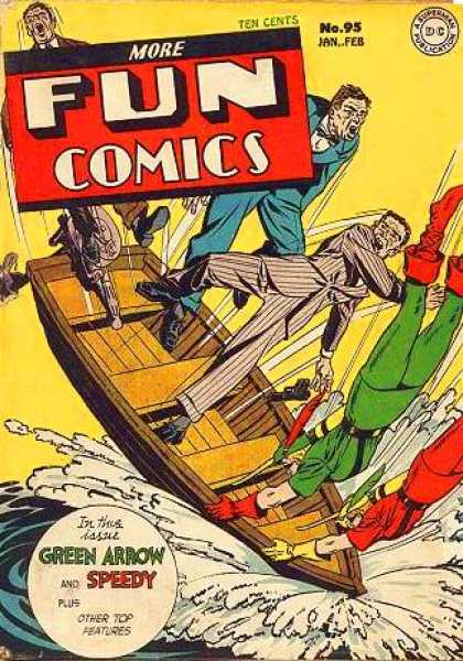 More Fun Comics 95 - More Fun Comics - Ten Cents - Upturned Boat - Two Super-heroes - Pin-striped Suit