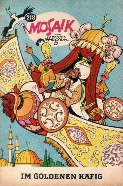 Mosaik 202 - Flying Carpet - Shiek - Crane - International Comic - Issue 218
