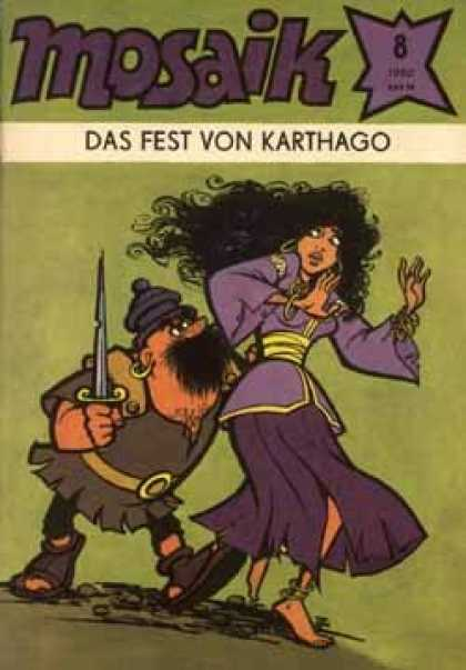 Mosaik 293 - Das Fest Von Karthago - Sword - Purple - Green - Woman