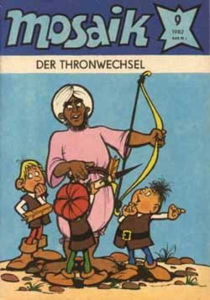 Mosaik 294 - Der Thronwechsel - Kids - Bow And Arrow - Desert - Red Hat