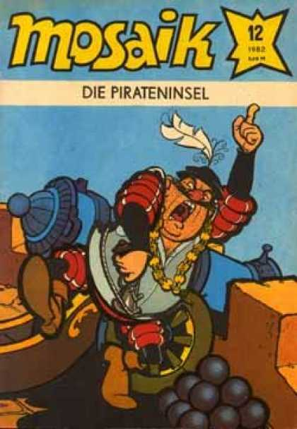 Mosaik 297 - Die Pirateninsel - Soldier - Guardian - Canon - Balls
