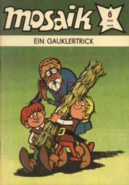 Mosaik 339 - Foreign Comic - Helpful Kids - Straw Sheave - Indian Man - Peasants