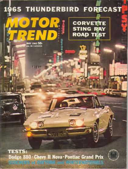 Motor Trend June 1963 Corvair Spyder - Olds 88 - Studebaker Super Hawk Indy 500