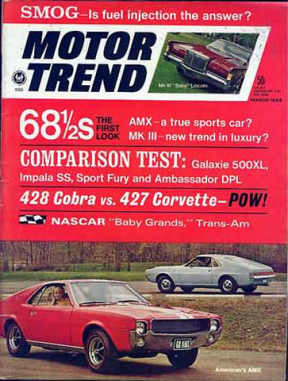 Motor Trend - March 1968
