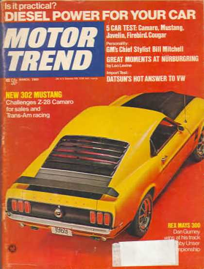 Motor Trend - March 1969