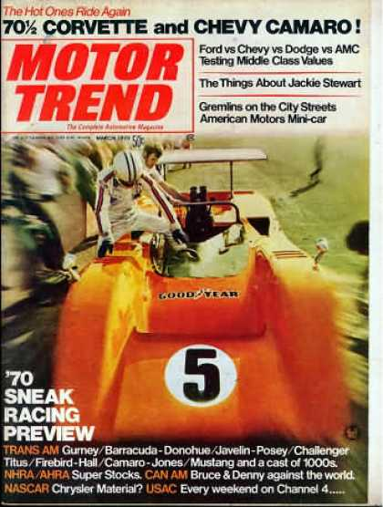 Motor Trend - March 1970