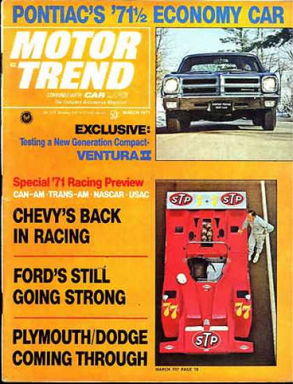 Motor Trend - March 1971