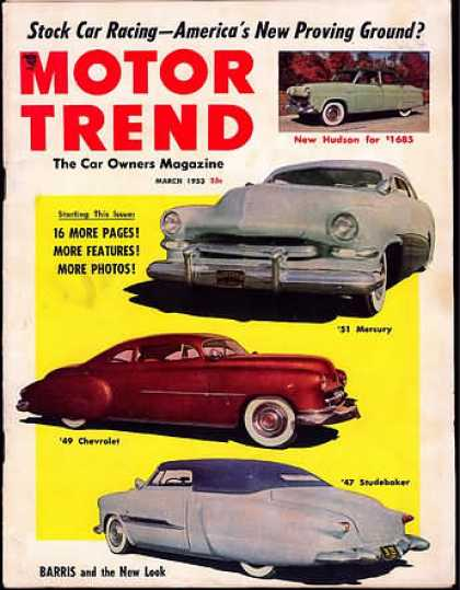Motor Trend - March 1953