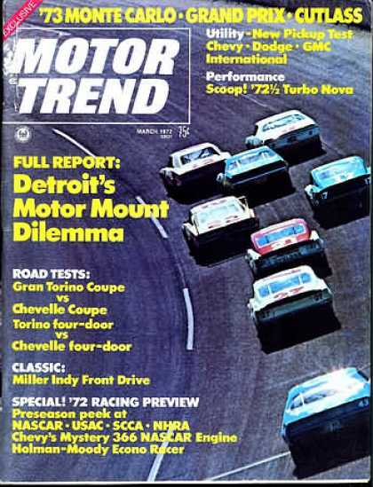 Motor Trend - March 1972