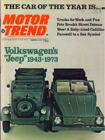 Motor Trend - March 1973