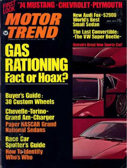Motor Trend - May 1973